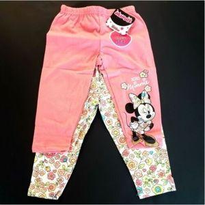 Disney Minnie Mouse Girls 2 Pack Leggings Sz 4T